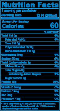 Blue NutritionLabel